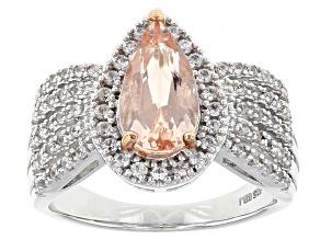 Pink Morganite Sterling Silver Ring 1.60ctw