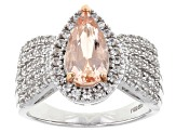 Pink Morganite Sterling Silver Ring 1.60ctw