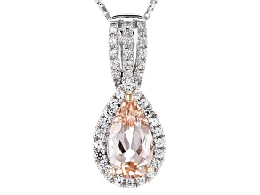 Pink Morganite Sterling Silver Pendant With Chain 1.44ctw