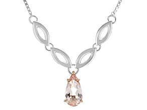 Pink Morganite Sterling Silver Necklace 1.27ct