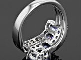 Blue Tanzanite Sterling Silver Crossover Ring 2.43ctw