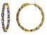 Blue Tanzanite 18K Yellow Gold Sterling Silver Inside/Outside Hoop Earrings 5.88ctw