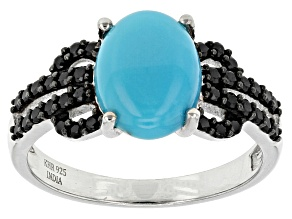 Blue Turquoise Sterling Silver Ring .32ctw