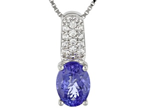 Blue Tanzanite Sterling Silver Pendant With Chain 1.93ctw
