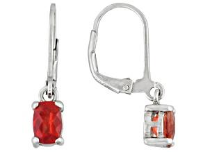 Red Labradorite Sterling Silver Earrings .92ctw