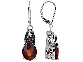 Red Hessonite Sterling Silver Earrings 8.61ctw
