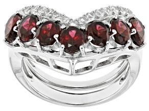 Purple Rhodolite Sterling Silver Stackable Ring 3.95ctw