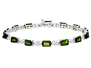 Green Russian Chrome Diopside Sterling Silver Bracelet 11.74ctw