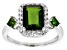 Green Russian Chrome Diopside Sterling Silver Ring 3.25ctw