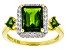 Green Chrome Diopside 18k Gold Over Silver Ring 3.25ctw