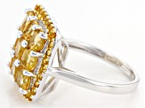 Yellow Citrine Sterling Silver Ring 2.72ctw