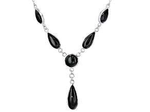 Black Spinel Sterling Silver Necklace 9.38ctw