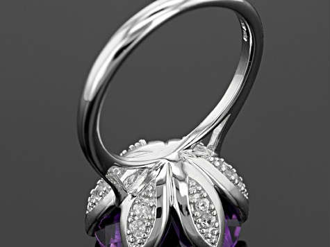 Purple Moroccan Amethyst Sterling Silver Ring 7.99ctw