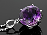Purple Moroccan Amethyst Sterling Silver Pendant With Chain 7.87ctw