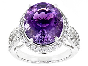 Purple Moroccan Amethyst Sterling Silver Ring 6.95ctw