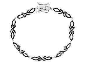 Black Spinel Sterling Silver Bracelet 2.39ctw