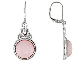 Pink Peruvian Opal Sterling Silver Earrings