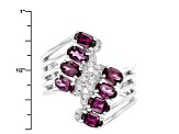 Purple Rhodolite Sterling Silver Ring 2.30ctw