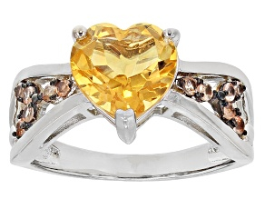 Yellow Citrine Sterling Silver Ring 2.13ctw