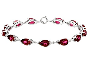 Red Peony™ Mystic Topaz® Sterling Silver Bracelet 13.50ctw