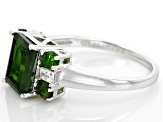 Green Chrome Diopside Sterling Silver Ring 2.80ctw