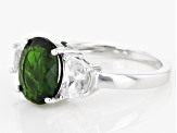 Green Russian Chrome Diopside Sterling Silver Ring 3.81ctw