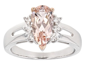Pink Morganite Sterling Silver Ring 1.67ctw
