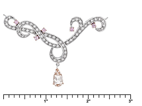 Pink Morganite Sterling Silver Necklace 2.63ctw