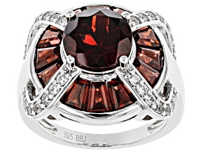 Red Garnet Sterling Silver Ring 5.60ctw