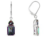 Mystic Fire® Green Mystic Topaz® Silver Dangle Earrings 5.82ctw