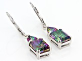 Mystic Fire® Green Mystic Topaz® Rhodium Over Sterling Silver Dangle Earrings 5.82ctw