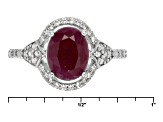 Red indian Ruby Sterling Silver Ring 2.47ctw