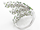 Green Chrome Diopside Sterling Silver Ring 2.74ctw