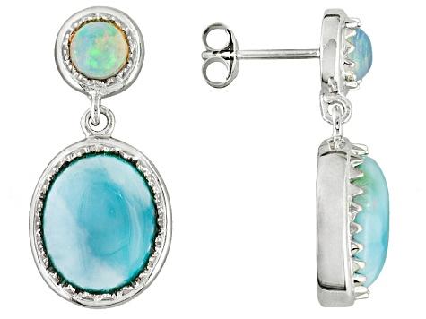 6a8eba3c8 Blue Larimar Sterling Silver Dangle Earrings .82ctw. - NPH056 | JTV.com