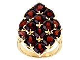 Red Garnet 18k Yellow Gold Over Sterling Silver Ring 9.55ctw