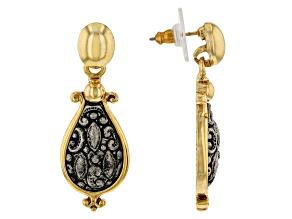 Gold-Tone & Silver-Tone Teardrop Earrings