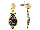 Gold-Tone & Silver-Tone Teardrop Earrings