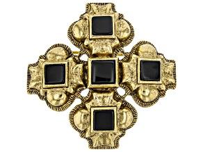 Crystal Gold-Tone Pin