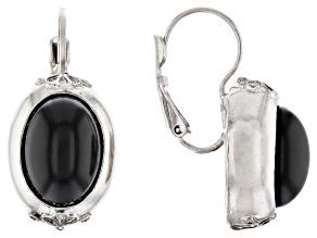 Crystal Silver-Tone Drop Earrings