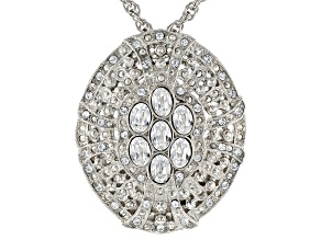 White Swarovski Elements™ Silver-Tone Necklace