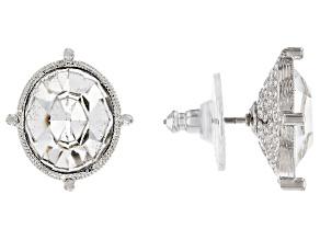 Swarovski Crystal Elements™ Silver-Tone Stud Earrings