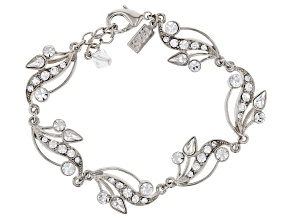 Swarovski Crystal Elements™ Silver-Tone Vine Teardrop Bracelet