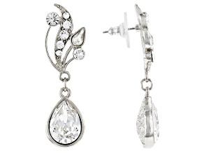 Swarovski Crystal Elements™ Silver-Tone Vine Teardrop Earrings