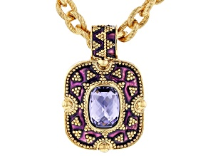 Purple Swarovski Elements™ Gold Tone Necklace