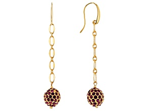 Crystal Gold-Tone Dangle Earrings