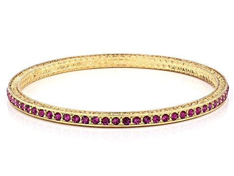 Crystal Gold-Tone Bangle