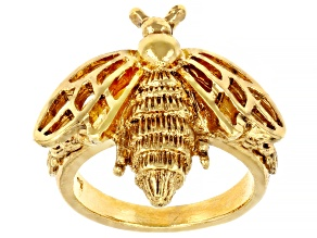 Gold-Tone Bee Ring