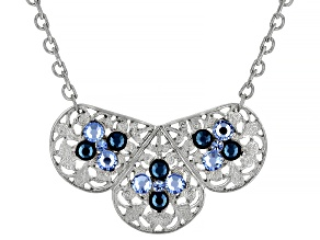 Crystal Silver-Tone Bib Necklace
