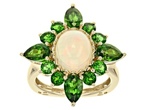 Ethiopian Opal 10k Yellow Gold Ring 4.50ctw