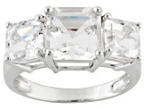 White Danburite 10k White Gold Ring 4.27ctw